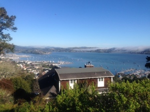 View from Sausalito and the house I'll buy with my Powerball winnings