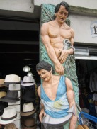 Kitsch sculptures in La Boca. My friends in Gaybor need to put in an offer for this one.