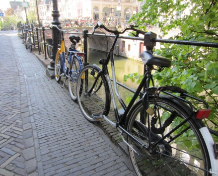 Thousands of bikes are dredged from the canals every year. Victims of petty vandalism.