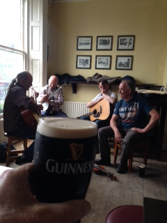"""Trad' session at Toner's Bar the day after."