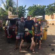 Tuk Tuk ride to El Transito Beach. Always searching for better waves